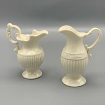 I Godinger & Co Individual Creamer Syrup Pitchers Ivory Elegant Set of 2 - $23.12