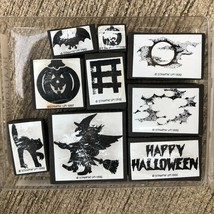 Stampin Up Happy Halloween Stamp Set. Kitty Cat , Witch, Bat, Pumpkin  L... - $14.52