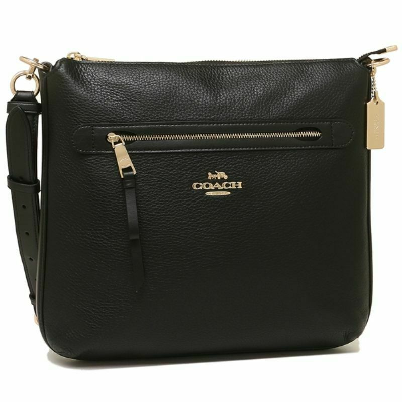 Coach F34823 Pebbled Leather Zip Large Crossbody Bag NWT