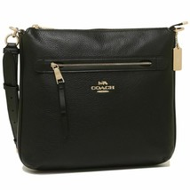 Coach F34823 Pebbled Leather Zip Large Crossbody Bag NWT image 1
