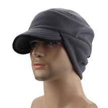 Leories Winter Windproof Cap Outdoor Warm Fleece Earflap Hat with Visor ... - $12.79