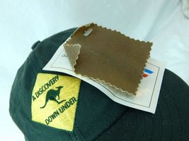 A Discovery Down Under New W Tags Waxed Oil Cloth Oilskin Hat Green Australia image 4
