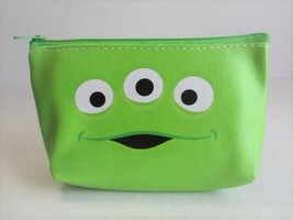 Disney TOY STORY Little Green Men Alien Face Zippered Cosmetic Pouch, Free Ship! - $11.40