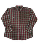 Wrangler Men's Pearl Snap Plaid Shirt Men's XL Rodeo Cowboy Country Western - $14.84
