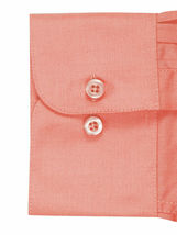 Omega Italy Men's Long Sleeve Solid Regular Fit Coral Dress Shirt - 4XL image 3