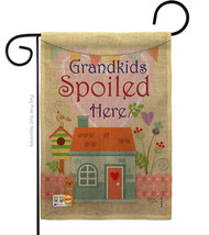 Grandkids Spoiled Here Burlap - Impressions Decorative Garden Flag G165003-DB - $22.97