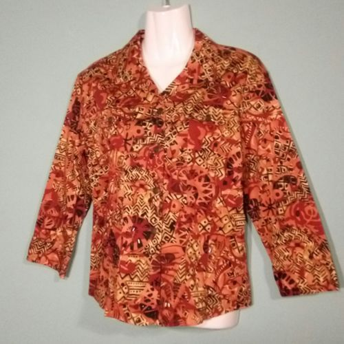Primary image for Multiples Woman's Jacket  Beaded Abstract Print  Size Small