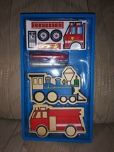 Melissa & Doug Create A Craft Vehicle Magnets Ages 4+ #4795 Made In China Train - $10.88
