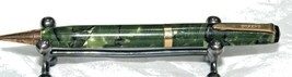 Parker Mechanical Pencil in Blk/Green Marble. Circa 40's, needs polishing. Works - $12.50