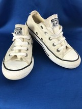 Converse All Star Shoes Youth Size 13 White Low Top - $14.84
