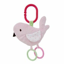 Carter's Baby Girl Plush Pink Bird Crinkler Crinkle Toy Teether Carrier ... - $5.01