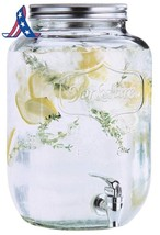 Estilo 2 Gallon Glass Single Mason Jar Beverage Drink Dispenser With Lea... - $33.35+