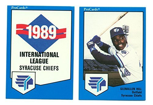 1989 ProCards Syracuse Chiefs Minor League Team Set Glenallen Hill Junior Felix