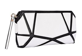 Fashion PU Evening Clutch Handbags WHITE