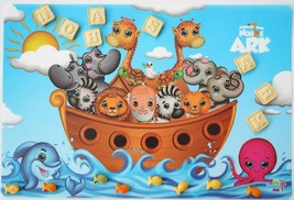 Noah's Ark Kids Placemat NEW BPA Free Washable Reusable Flexible Plastic - $8.29