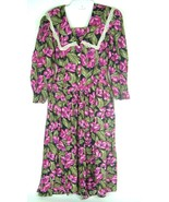 S.L. Fashions Vtg Bright Floral Sz 8 Housewife Swing Farm Prairie Girl D... - $21.73