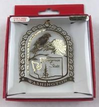 Nations Treasures Washington State Bird & Flower Brass Metal Souvenir Ornament - $15.00