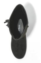 Chat & Jack Filles Noir Helena Faux Daim mi-Mollet Équitation Fashion Boots Sz image 3