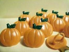 12 Pumpkin Cupcake Ring Topper Halloween Thanksgiving Party decoration - $10.00