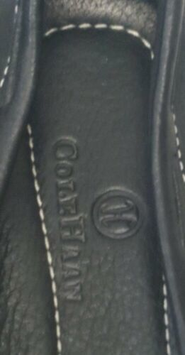 Cole Haan Black Leather Mocas Buckle Strap Loafer Women's 8 B Driving Shoes image 7