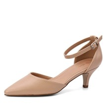 Moda Chics Women's Low Kitten Heel Dress Pump Shoes Sandals (Size Run Sm... - $40.19+