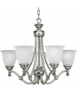 Antique Nickel Finish 5 Light Hanging Chandelier Progress Lighting P411... - $240.73