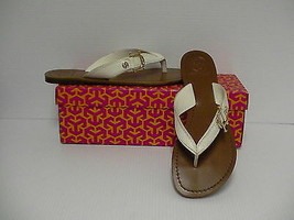 Women's Tory Burch Nora Flat Thong-Mestico Bleach 115 size 8 us - $138.55