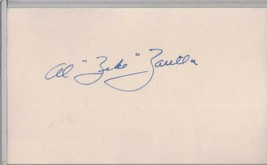 AL ZEKE ZARILLA Auto/Autograph 3x5 Index Card Browns/Red Sox (1919-1996) - $8.96
