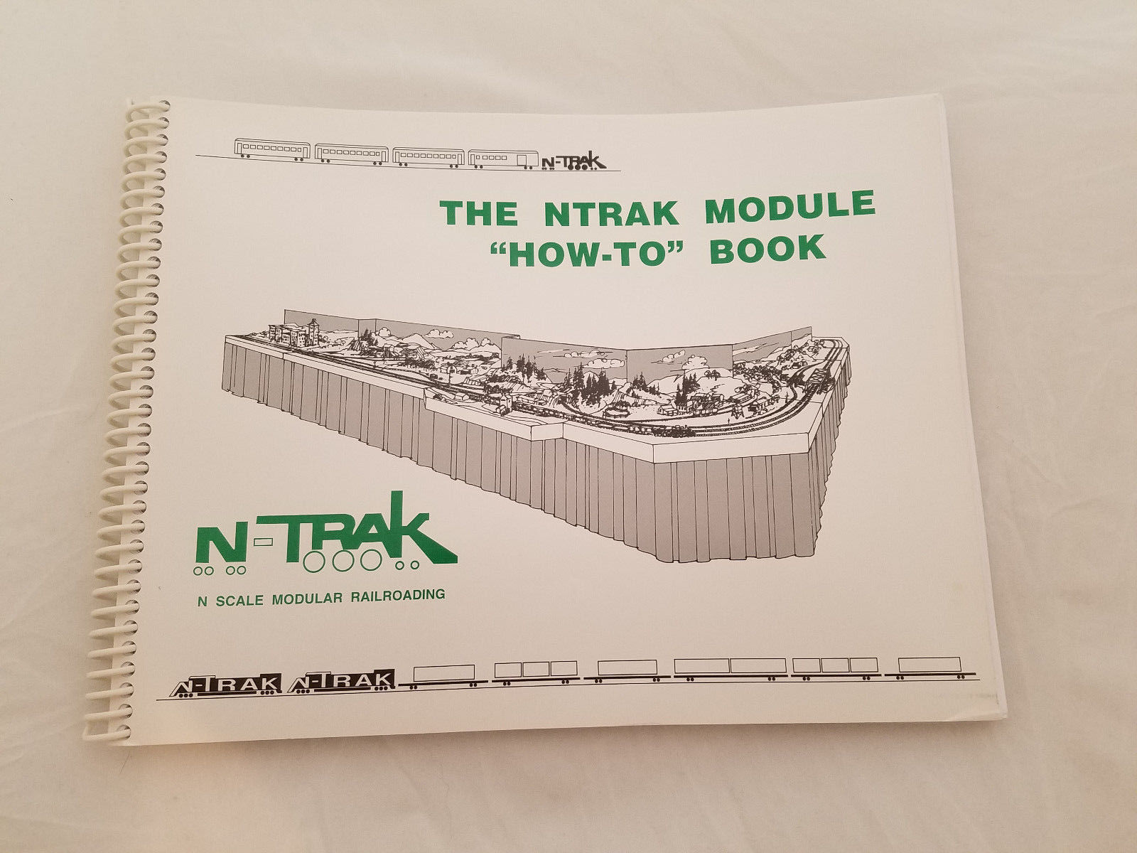 "The NTrak Module ""How-To"" Book Spiral Bound Guide to Railroad Models 2009 Plus"