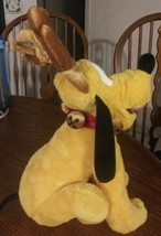 "Disney Store Exclusive Pluto Plush Christmas Reindeer 15"" Jingle Bells C... - $14.84"