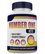 Number ONE Keto - BHB and 800MG Proprietary Blend - 1 Month Supply - 60 Capsules - $36.09