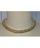 Gold Silver Tone Snake Chain Choker Necklace Vintage Egyptian Revival - $39.59