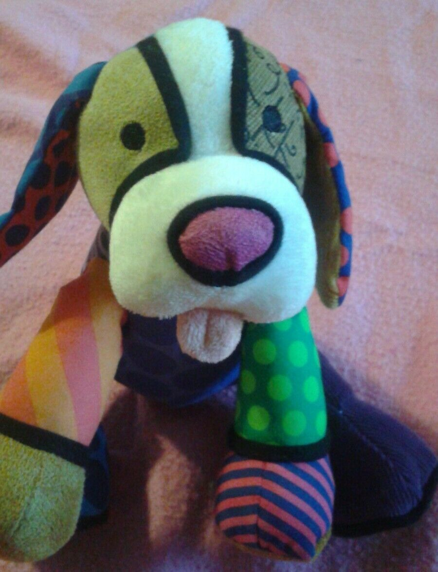 Primary image for Romero Britto Pop Plush Dog By   Enesco Miami Artist ❤