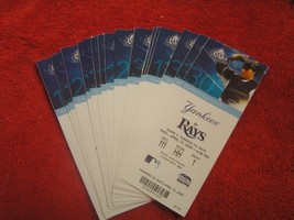 MLB 2009 Tampa Bay Rays Full Unused Ticket Stubs $ 3.95 Each! - $3.91