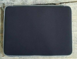 """Notebook Laptop Zippered Sleeve 13.4"""" By Techtent  Black With Gray Trim  - $20.54"""