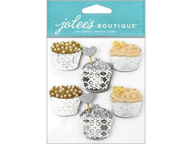 Jolees Boutique-So Elegant Dimensional Cupcake Stickers! Set of 6