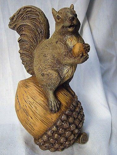 Bethany Lowe Fall Harvest Squirrel on Acorn