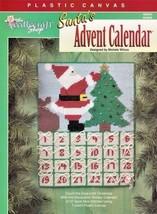 Santa's Advent Calendar Plastic Canvas Wall Decor Tree Christmas Bag OOP  - $4.49