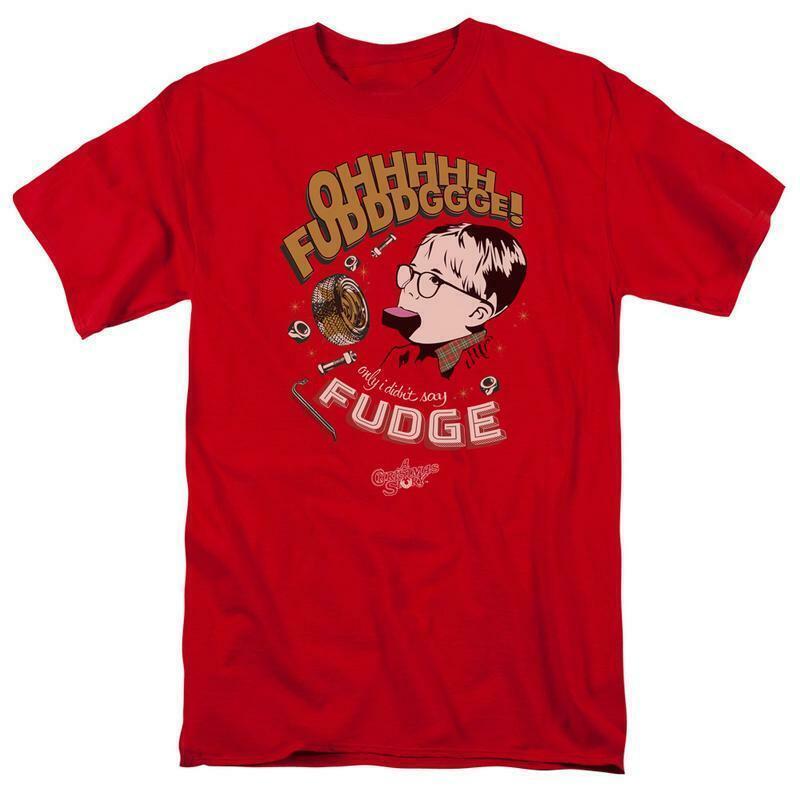 A christmas story ohhh fudge t shirt retro 1980s holiday movie film wbm647