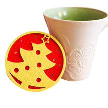 For Kitchen, Colorful Cute Christmas Table water Coaster Cup cushion Hol... - $4.99+