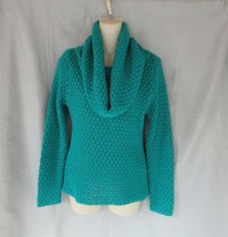 RD style Research & Design sweater pullover Small green chunky knit cowl... - $17.59