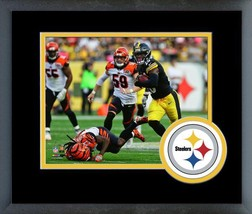 Le'Veon Bell 2017 Pittsburgh Steelers vs Bengals -11x14 Logo Matted/Framed Photo - $42.95