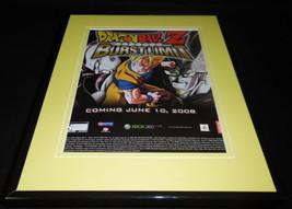 Dragonball Z Burst Limit 2008 Framed 11x14 ORIGINAL Advertisement PS3 XBox - $22.55