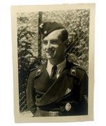 WW2 German original photo Panzer troop portrait awards medals - $38.00