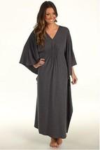 Natori Solid Jersey Knit Caftan R70009  Charcoal XS - $100.00