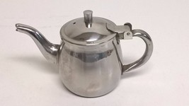 Vintage Kettle Shaped 8 oz Cream Pitcher 18-8 Stainless Steel Made in Korea - $13.72