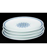 Noritake Nippon Toki Kaisha Dinner Plates (4) #N1232 Blue Greek Key Circ... - $48.00