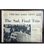 Nov 25 1963 JFK Kennedy Funeral Newspaper Chicago Daily News, 50 Pages - $16.83