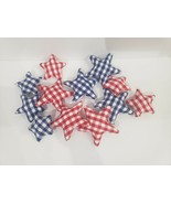 4th of July Patriotic  Buffalo Plaid Check Vase Bowl Filler Scatter Deco... - $18.99