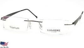 NEW LUMIERE EYEWEAR ITALY 6030 COL.1 RUTHENIUM EYEGLASSES RIMLESS 47-17-... - $63.68